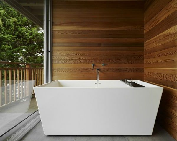 Holzwand Für Luxus Badezimmer Ausstattung   Schaffen Sie Eine Gemütliche  Atmosphäre Im Zimmer   Holzwand Ideen Ideas