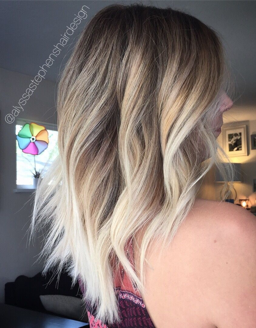 Blonde Balayage Butterscotch Hair Color Platinum Hair Babylights