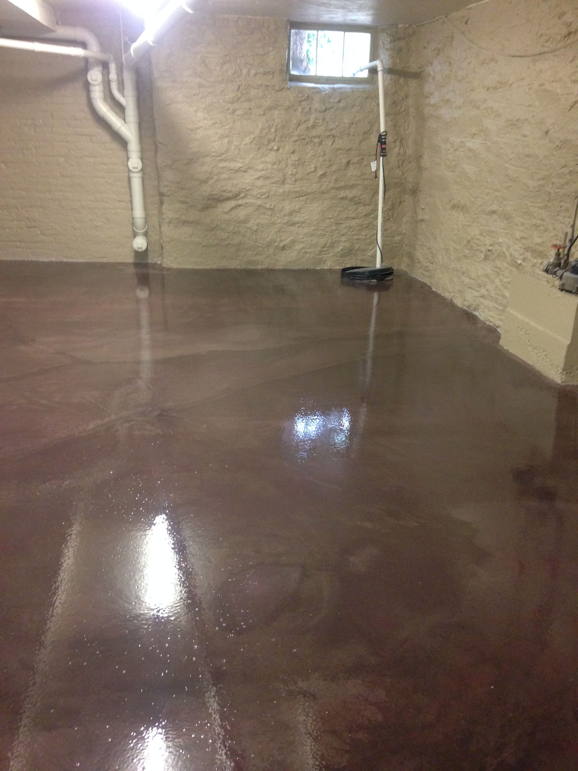 Long Lasting Easy To Clean Beautiful Basement Floor We Repair Any Cracks And Cover Up All St Flooring Basement Flooring Waterproof Basement Flooring Options