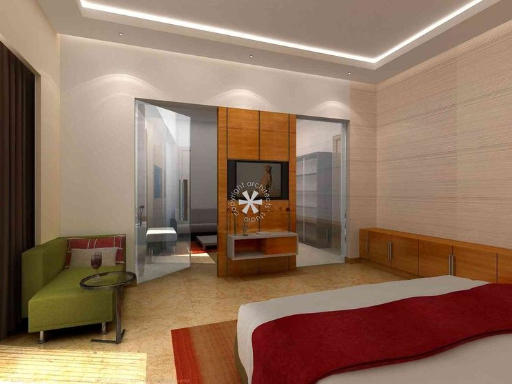 Master Bedroom With Granite Flooring Design By Architects Studio Architect In Delhi India Master Bedroom Design Bedroom Design Interior Design