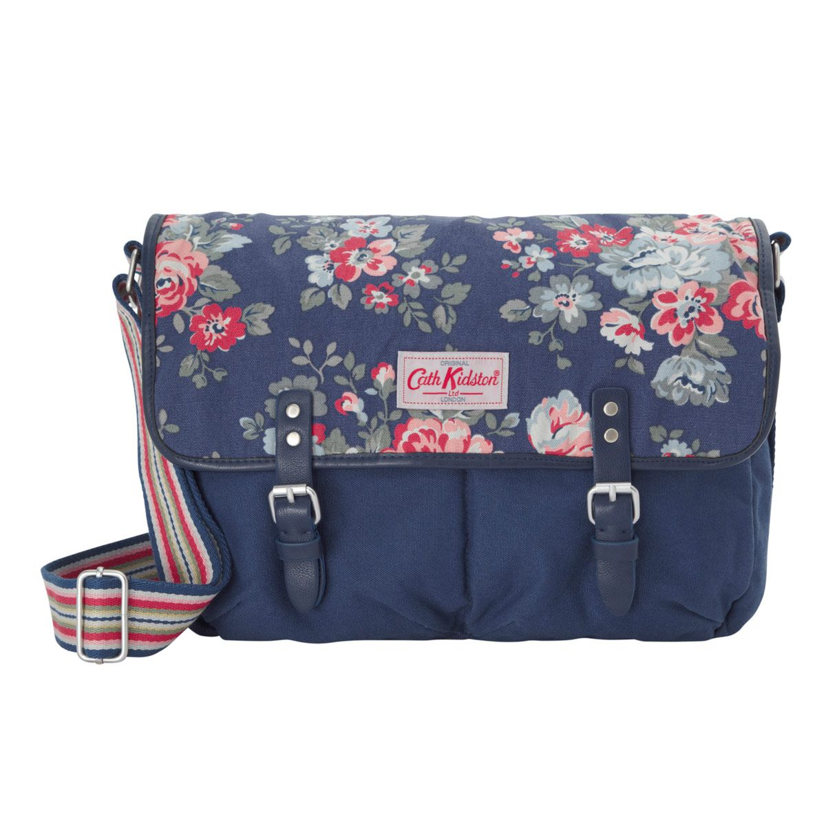 Cross Body Bags | Pembridge Rose Cotton Saddle Bag | CathKidston ...