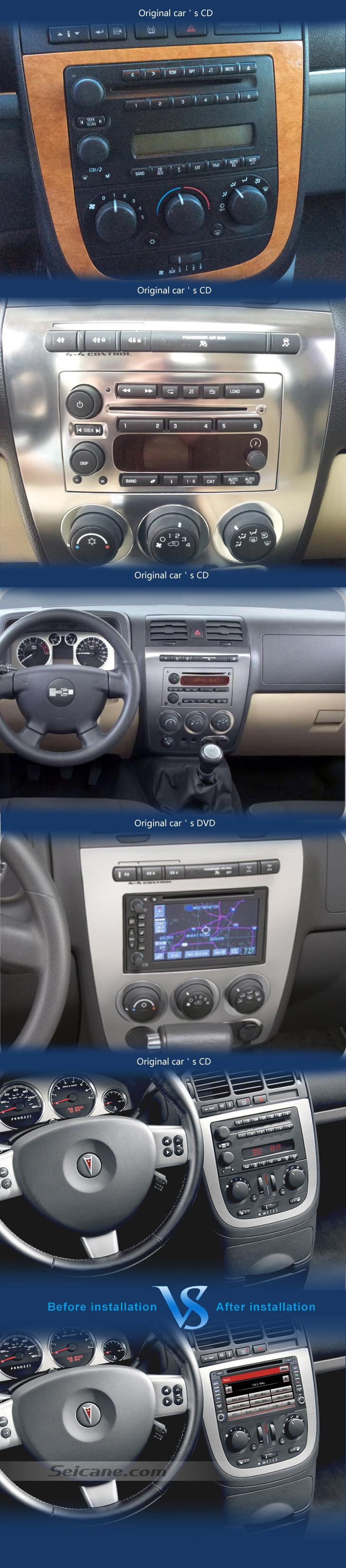 Pontiac Montana SV6 car dvd after installation