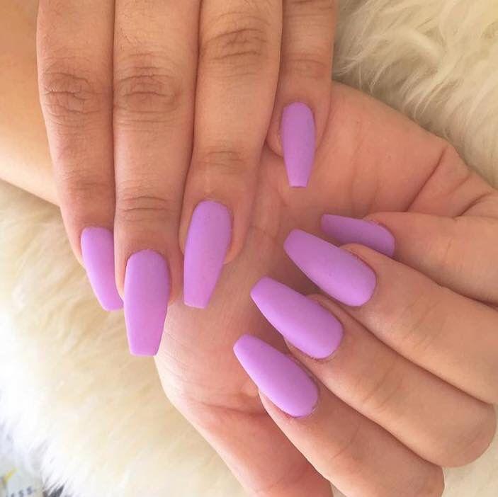 Lilac Matte Nails Plain Simple My Favorite