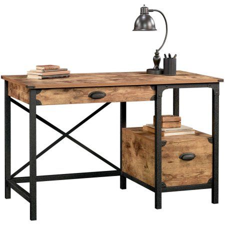 Beau Better Homes And Gardens Rustic Country Desk, Weathered Pine Finish    Walmart.com