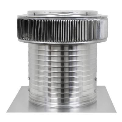 Active Ventilation 14 In Dia 1000 Cfm Power Mill Aura Exhaust Attic Fan With 12 In Collar Silver Attic Fan Solar Attic Fan Exhausted