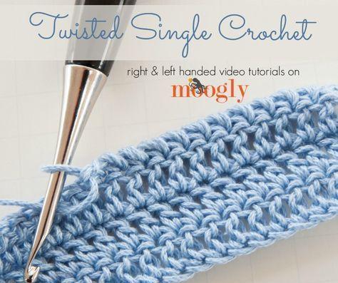 Twisted Single Crochet Stitch Tutorial - (mooglyblog) | crochet ...