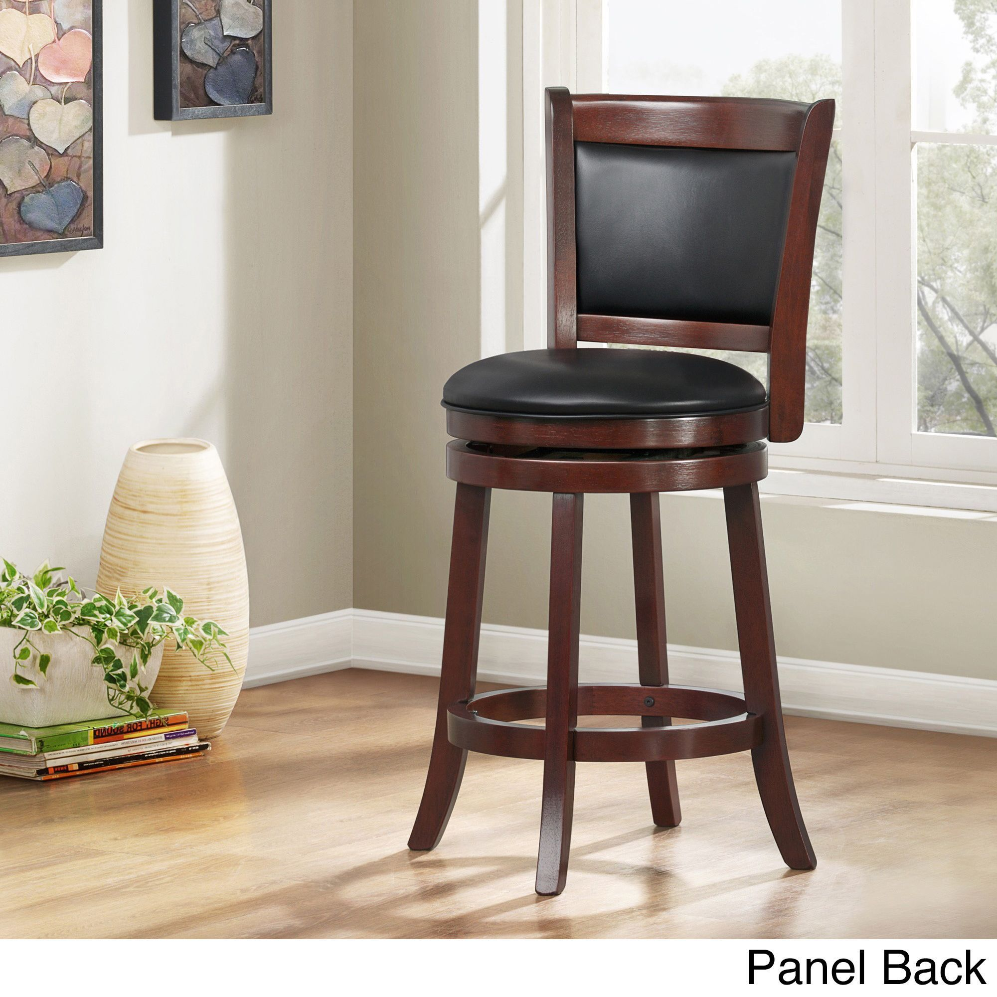 Verona Cherry Swivel 24-inch High Back Counter Height Stool by ...