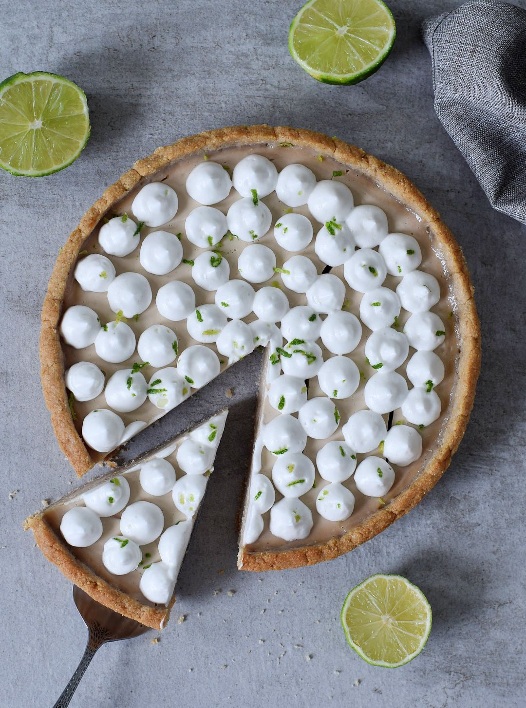 This Vegan Key Lime Pie Is A Delicious Light Tangy Dessert The Recipe Is Plant Based Gluten Free O Vegan Key Lime Vegan Key Lime Pie Plant Based Desserts