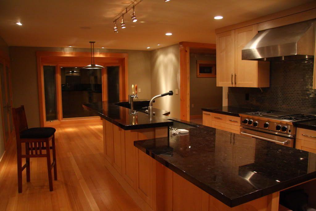 Black Cabinets With Black Countertop Please Help W Granite For Maple Mocha Glaze Ca Maple Kitchen Cabinets Black Appliances Kitchen Black Kitchen Countertops