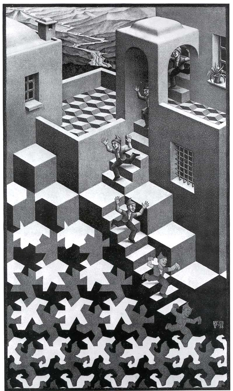 An Escher Print I Like The Idea Of One Thing Turning Into Another