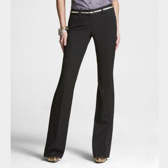 """LAST CALL Express Editor Luxury Stretch Pants NWT • Flare Leg • Low Rise • Straight Through Hip • Hook and zipper closure • Approximately 33"""" inseam and 14.5"""" flat across waist • NO Trade NO PayPal Poshmark Rules Only Express Pants"""