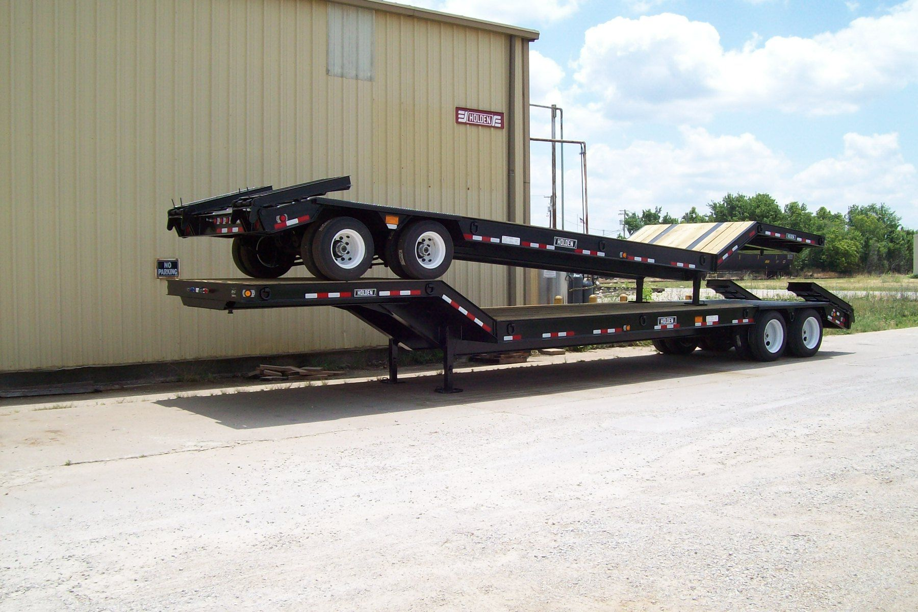 Couple Of 35 Ton Lowboy Trailers Ready For Shipping Holden