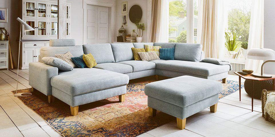 Candy Coast Polstergarnitur Rundecke Vintage Lounge Sofa Mobel Mit