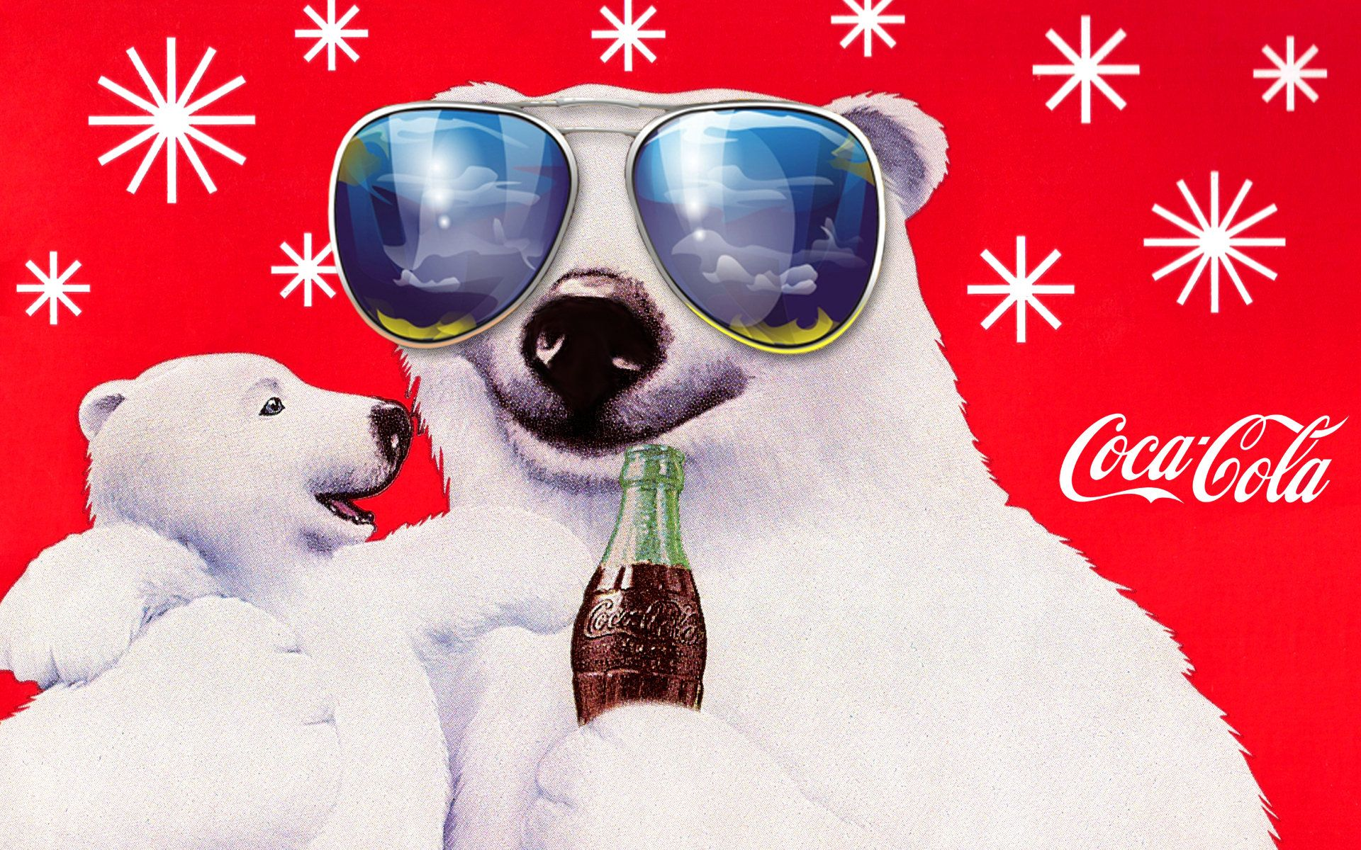 image result for coca cola polar bear art