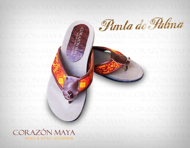 Sandalias con tiras de textil típico tejido a mano, más info. www.facebook.com/corazonmaya