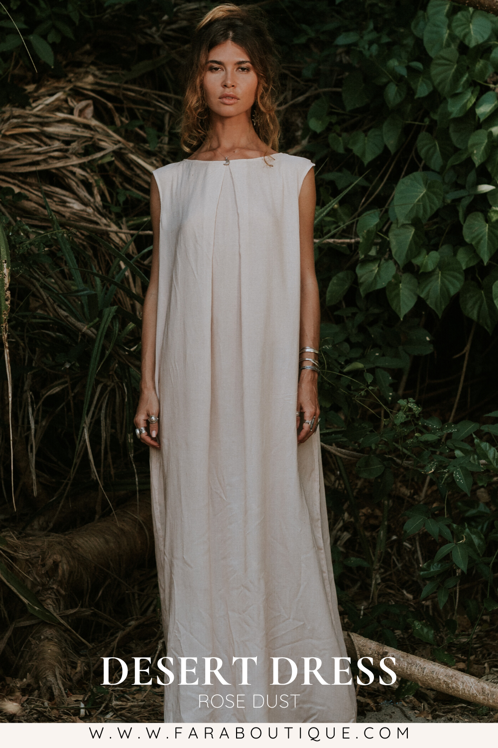 DESERT MAXI DRESS | rose dust hemp | boho beach vibes | www.faraboutique.com #bohofashion #bohostyle #faraboutique