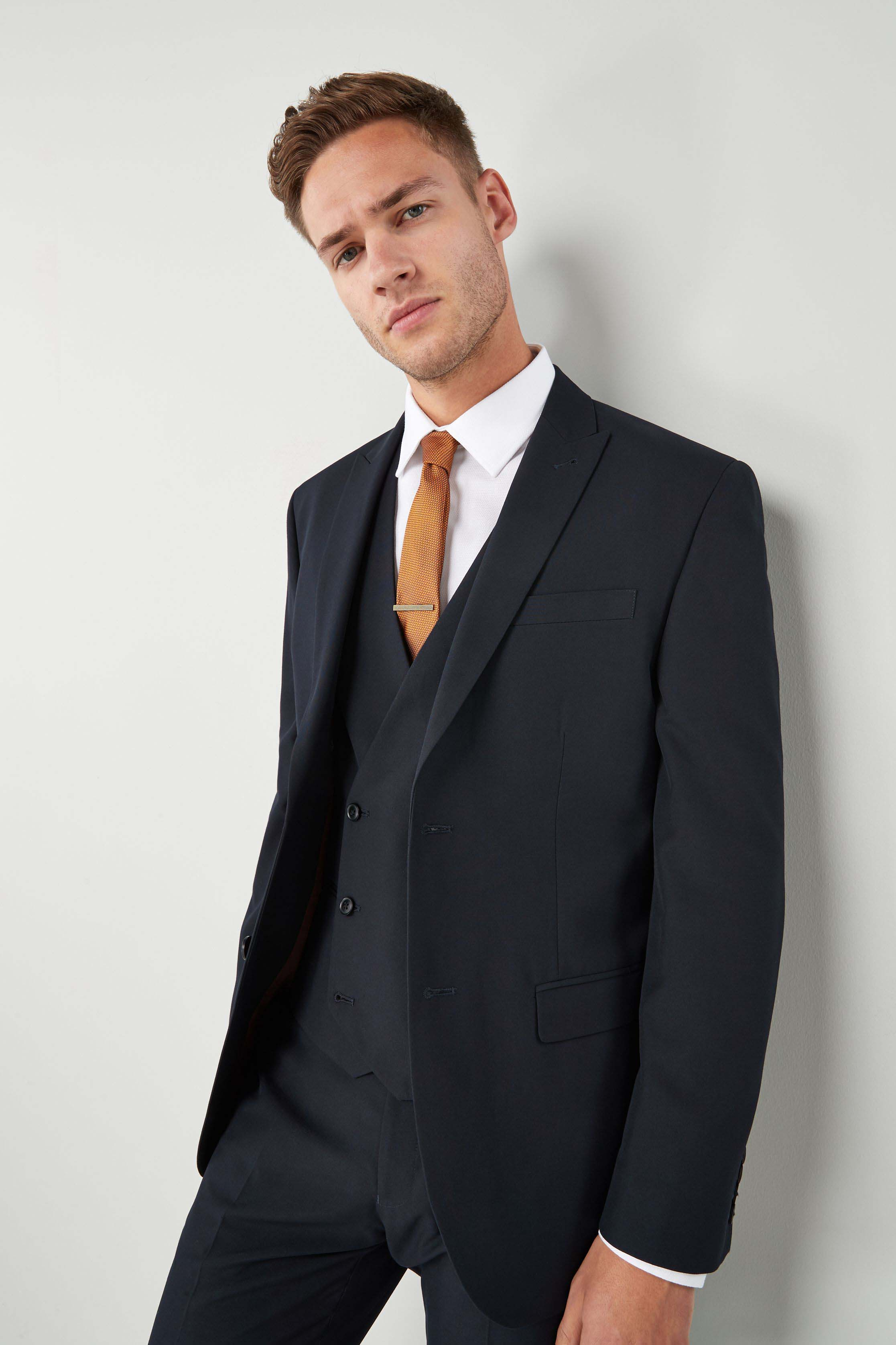 a13b08111cad Mens Next Light Grey Tailored Fit Two Button Suit: Jacket - Grey in ...