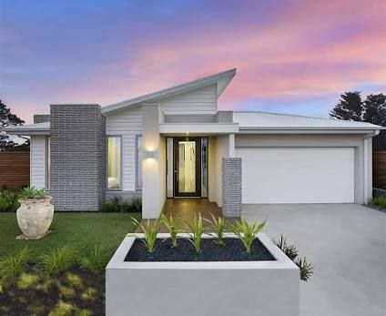Contemporary single story house facades australia google for Exterior house facade ideas