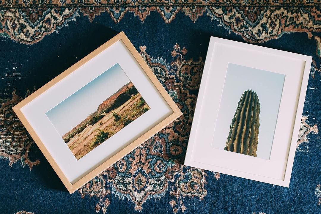 A pair of 8x12 picture frames of desert photos in our natural wood ...