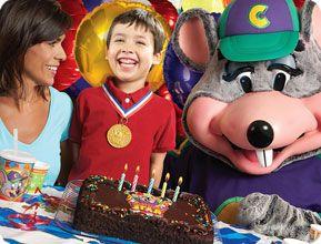 Free Chuck E Cheese tokens when you book a birthday party Kiddos