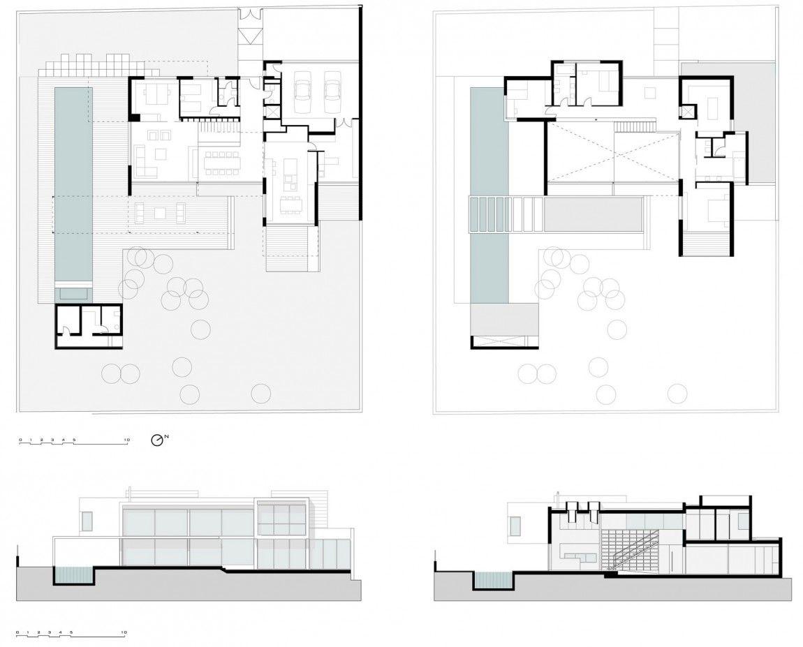 D E House By Sanahuja And Partners 12 House House Floor Plans Family House