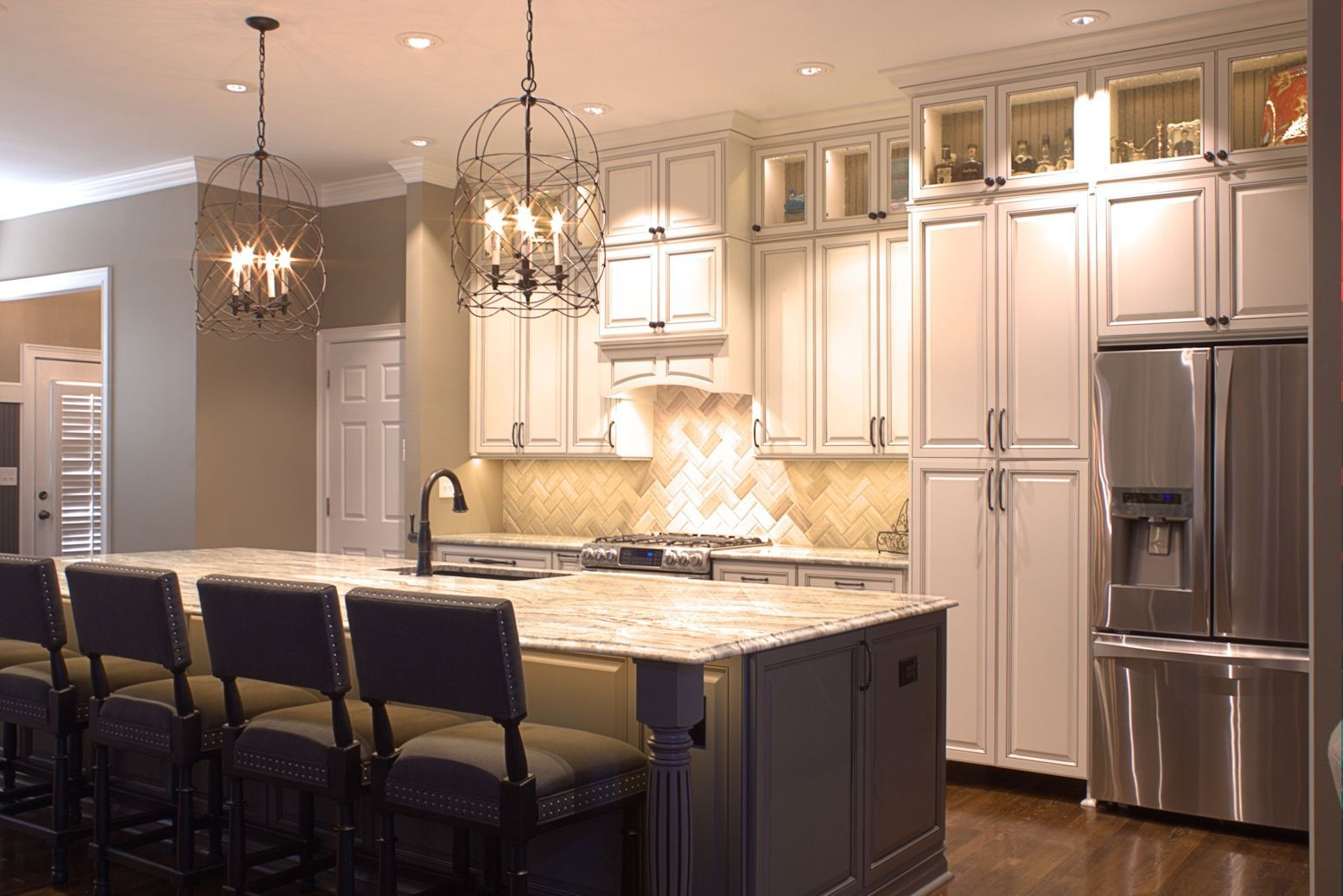Platinum Kitchens: Double Stacked Upper Cabinets LOVE These Lights! Part 65