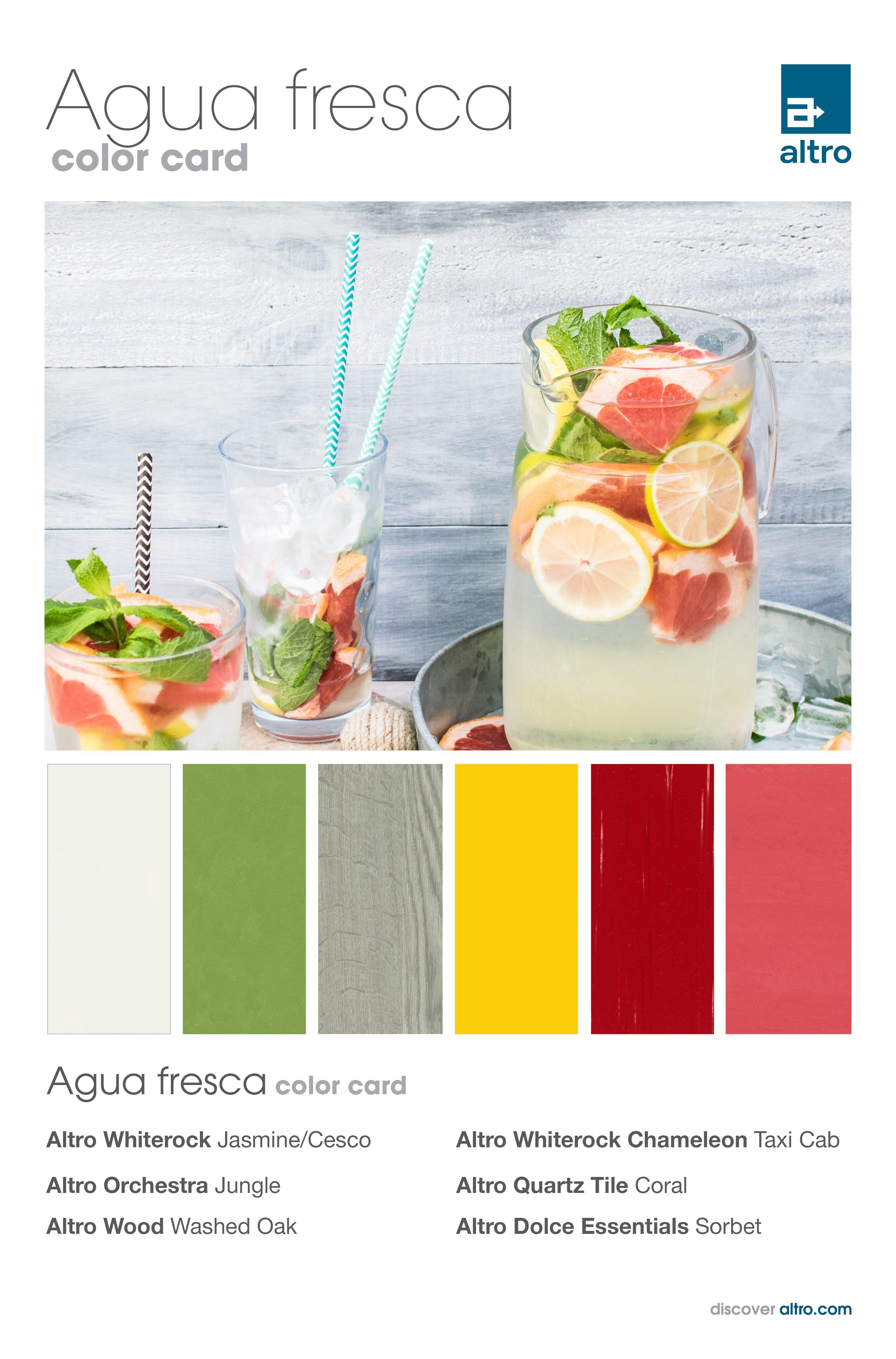 Agua fresca color card Commercial flooring, Color card