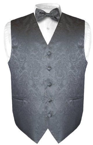 Self tie bow tie - Small, tonal paisley drops in steel blue Notch