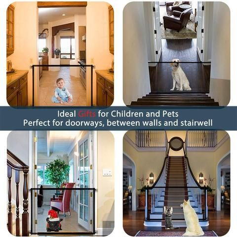 Last Day Promotion Portable Pet Child Safety Gate Mdrnmint In 2020 Door Guard Child Safety Gates Pet Safety Gate