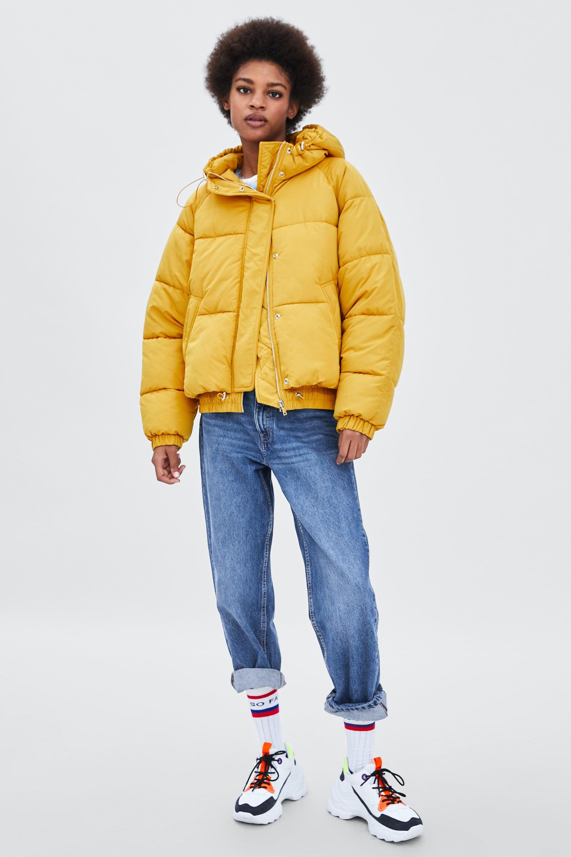 PUFFER JACKET WITH HOOD (с изображениями) Куртка