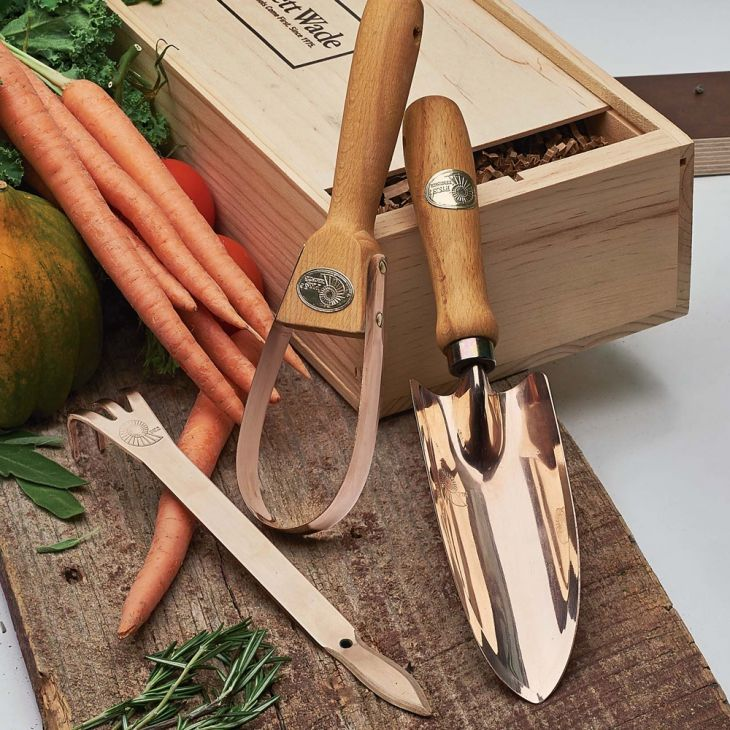 Bronze Gardening Tools Heirloom Tools In A Wooden Gift Box Unusual And Hard  Wearing