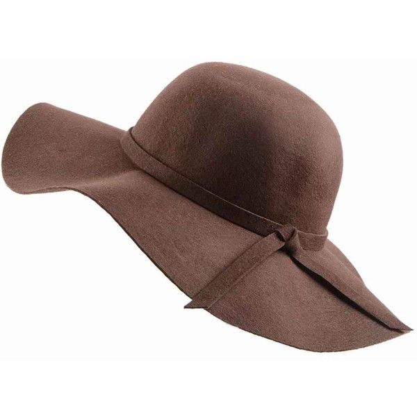 N Damus London - Ladies Brown Wool Fedora Hat ( 50) ❤ liked on Polyvore  featuring accessories 65e188566d6