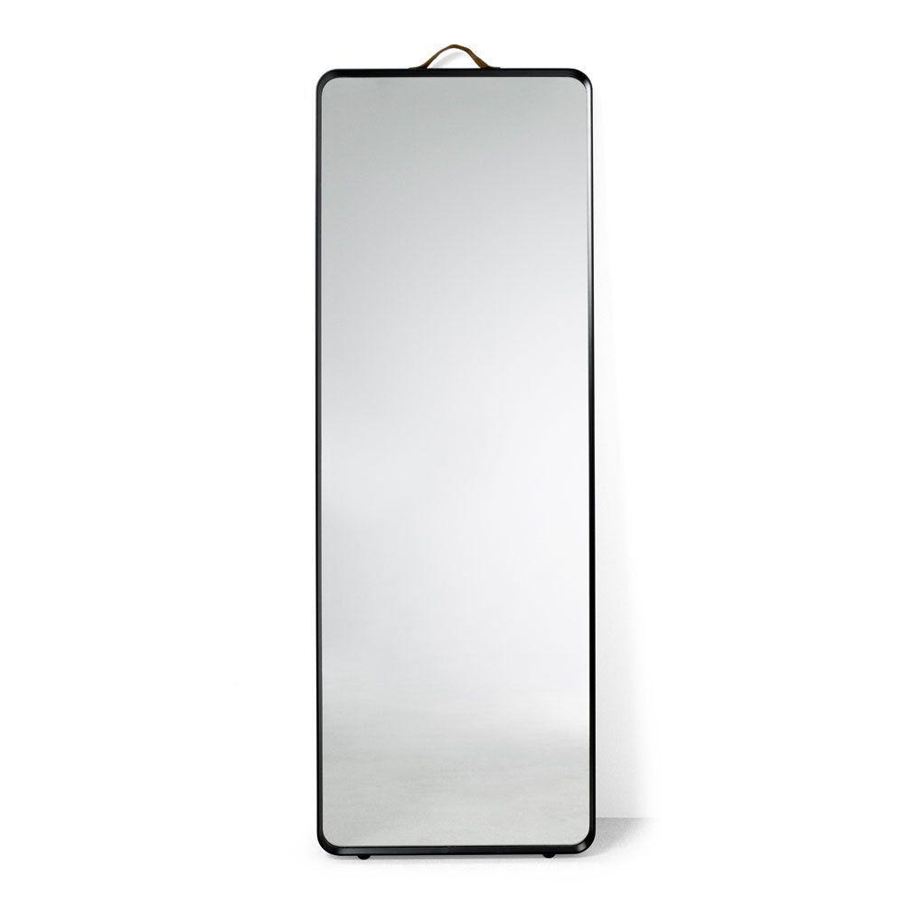 Designer Menu Norm Rectangular Floor Standing Mirror Black Metal