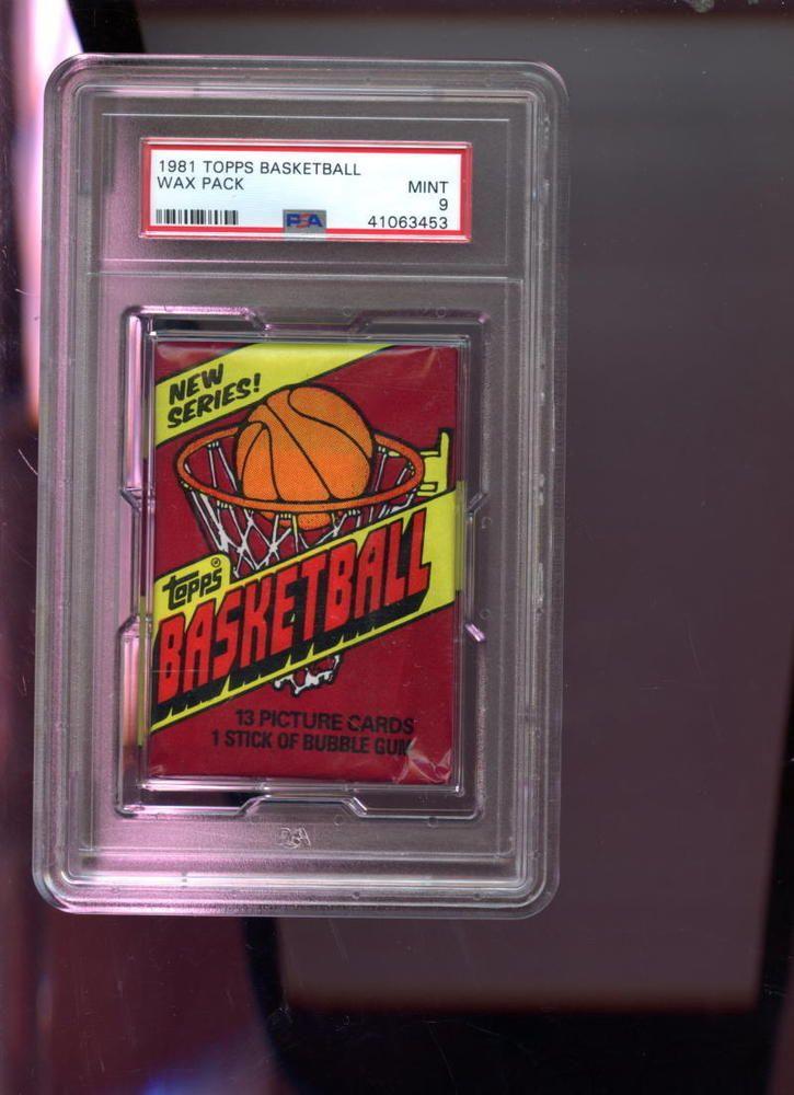 198182 topps basketball unopened wax pack psa 9 graded
