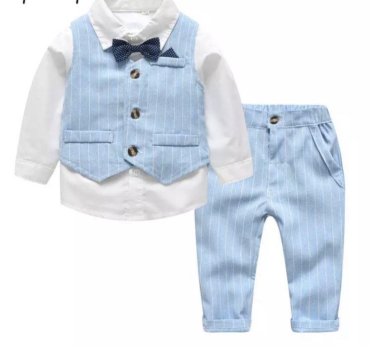 Pantalon Barboteuse Tenues Automne Vêtements Bownot 2pcs Cotton Kids Baby Girls Tops