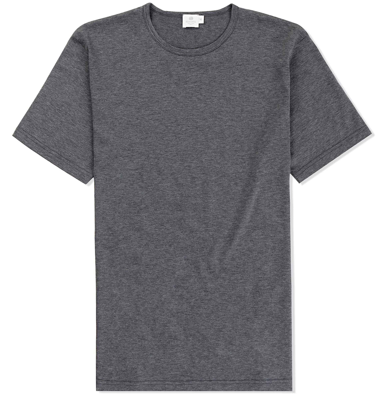 The Classic Plain Designer T Shirt In Charcoal Melange
