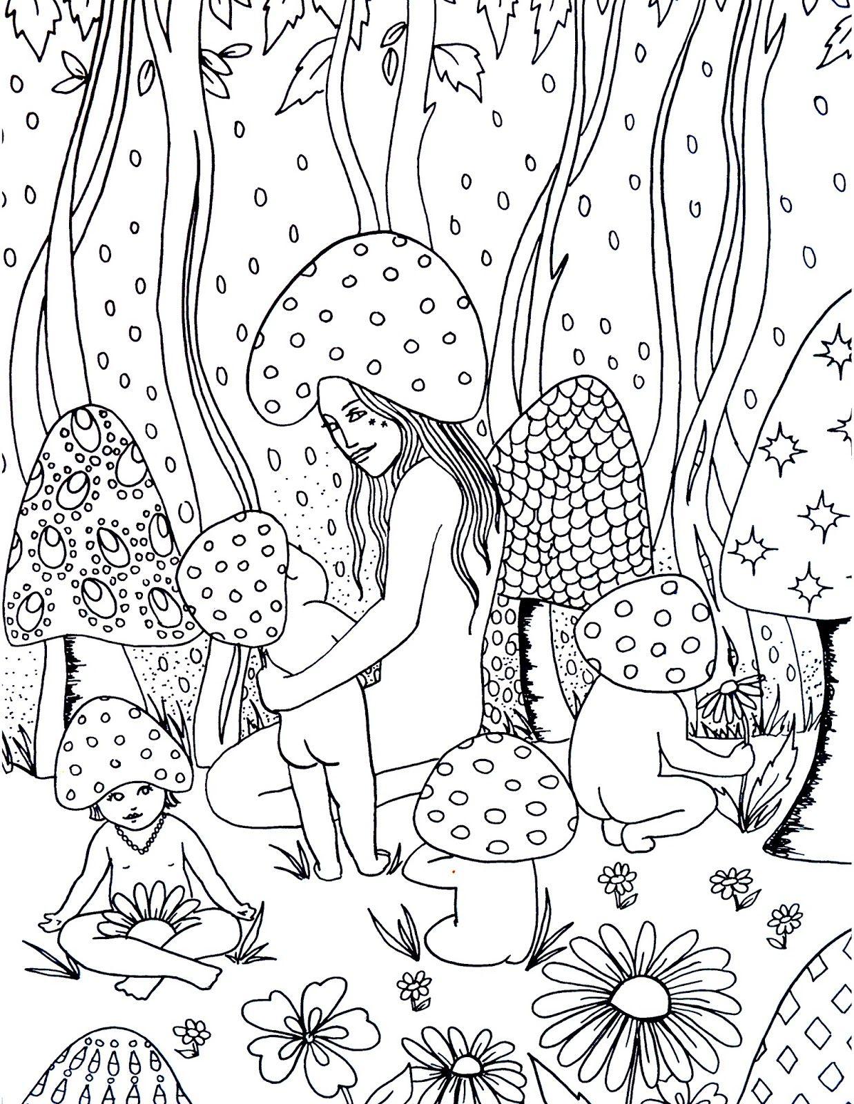 Spirit Sol Mushroom Magic Coloring Page Coloring Pages Swear Word Coloring Book Words Coloring Book