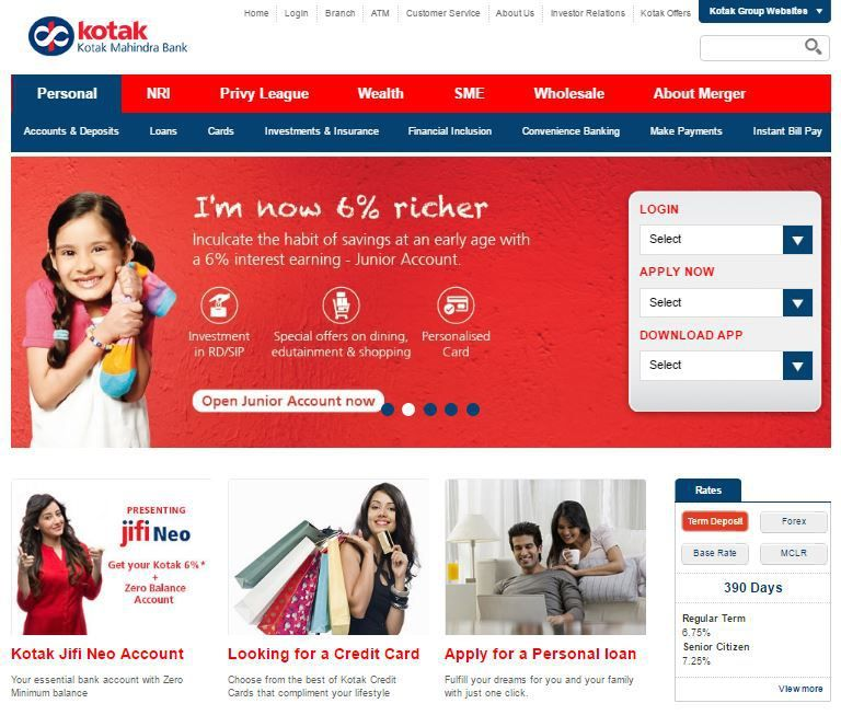 Kotak Net Banking Kotak Mahindra Bank Financial Inclusion Banking