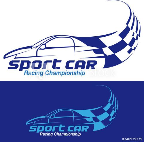Vector illustration, racing championship 2019 symbol or