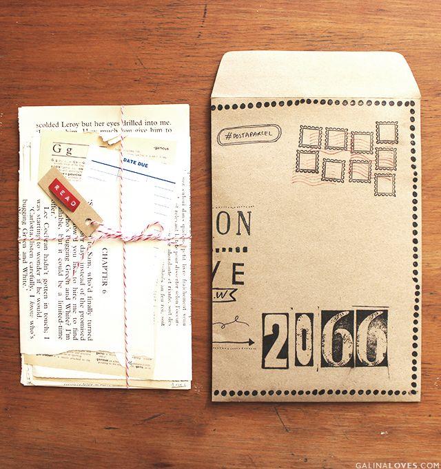 Life  Co   Post-a-Parcel Xmas Edition - Chloe Ferres Envelopes