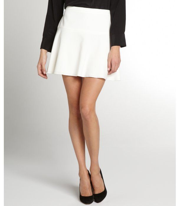 Off White Lucy A Line Mini Skirt | White skater skirt, Shops and A ...
