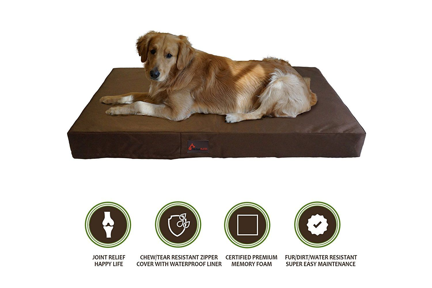 PetBed4Less Deluxe Orthopedic Memory Foam Dog Bed Pet Pad