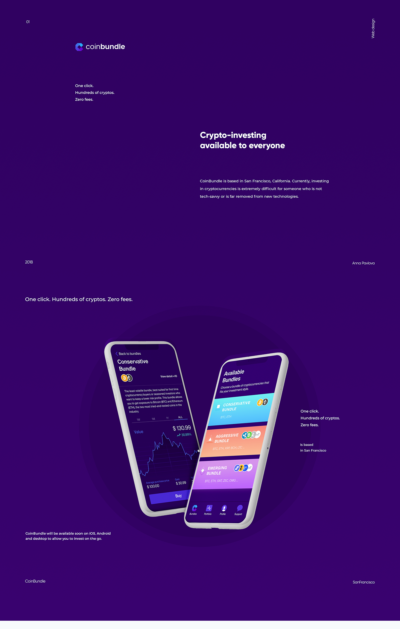 CoinBundle on Behance Android app design, App design
