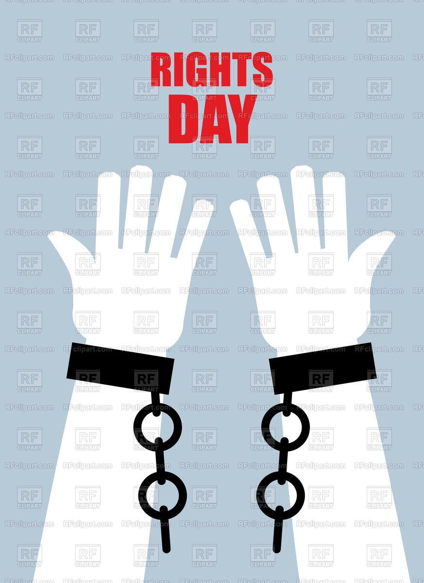 Hands With Broken Handcuffs Free Vector Illustration Clip Art Vector Artwork