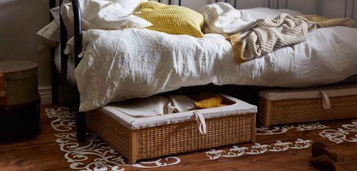 schaff mit unserem rmskog bettkasten mehr stauraum in deinem schlafzimmer - Schlafzimmer Mit Ikea Ei