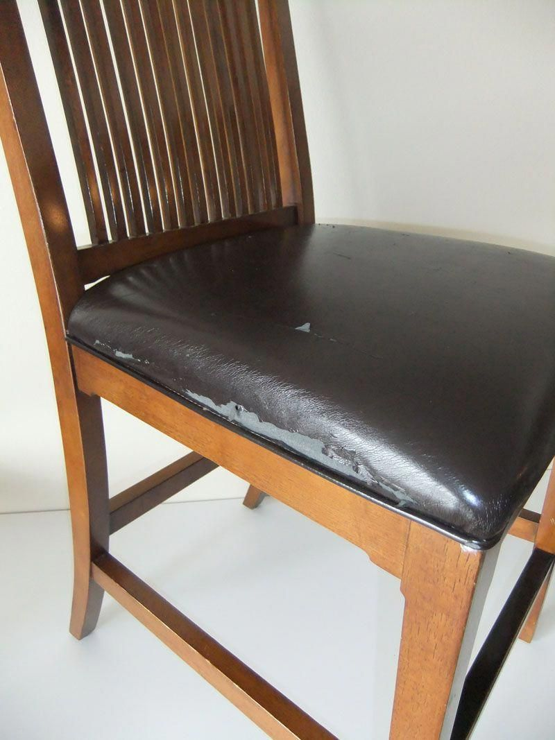 Makeover For Torn Leather Dining Room Chairs Kitchenchaircushions