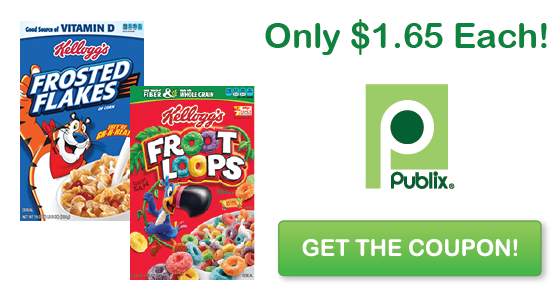 Publix New Kellogg S Coupon Frosted Flakes Froot Loops For 1 65 Each Publix Publix Deals Kelloggs