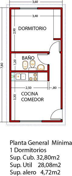 Vivienda de 1 dormitorio 32 80m2 ampliable a 3 dormitorios for Vivienda reducida