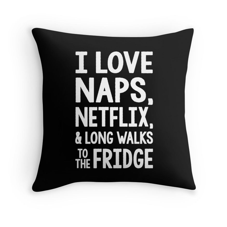 My neck back Netflix & snacks Pillow