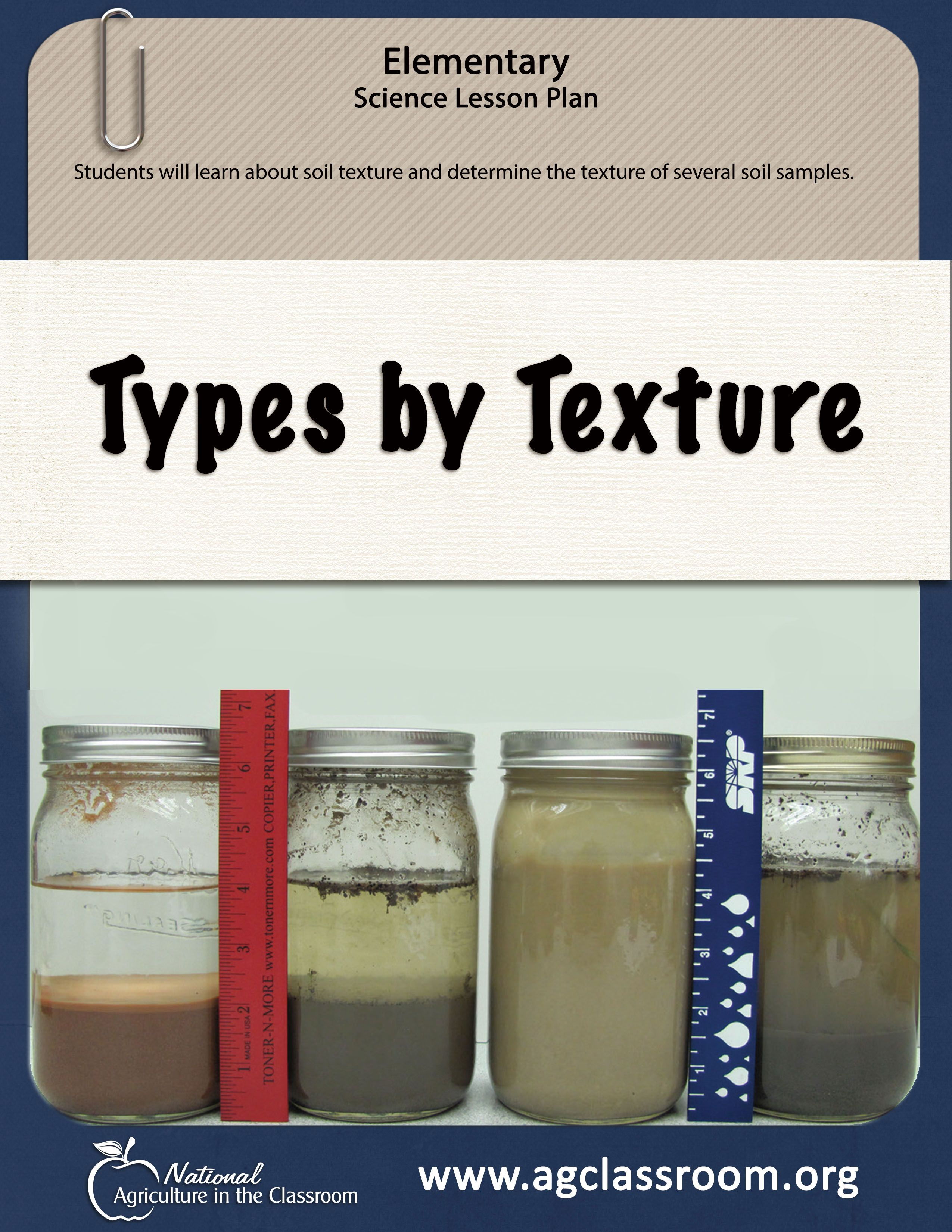 Soil Texture Lesson Plan In